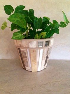 A personal favorite from my Etsy shop https://www.etsy.com/listing/235693751/mosaic-planter-flower-pot-rustic-herb