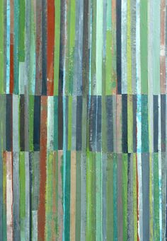 collage and mixed media~Brenda Holzke. Love the colours.