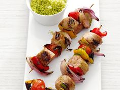 Sausage-and-Pepper Skewers.