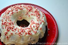 Chocolate Peppermint Bundt Cake- box of chocolate cake mix - 2 small boxes instant chocolate pudding mix - veggie oil - milk - Peppermint Nestle Coffee Mate Creamer - 4 eggs - Frosting - powdered sugar - butter - Peppermint Coffee Mate creamer - Andes Peppermint crunch baking chips