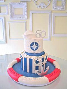 Nautical birthday cake.