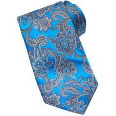 Stefano Ricci Paisley Silk Tie, Blue ($275) ❤ liked on Polyvore featuring men's fashion, men's accessories, men's neckwear, ties and tie