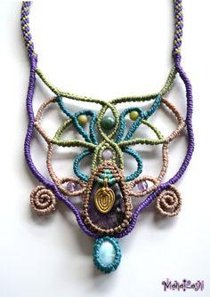 Macramè necklace Divine feminine with por MahakashiCreations
