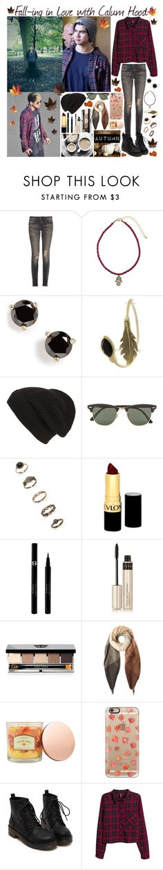 """""""Fall-ing in Love with Calum Hood"""" by hannahdumon ❤ liked on Polyvore featuring moda, R13, H&M, Kate Spade, Phase 3, Ray-Ban, Forever 21, Revlon, Sisley y By Terry"""