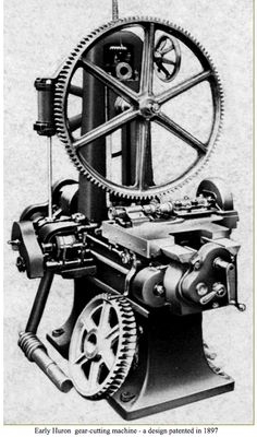 Found this picture of a Hure gear cutting machine from the late 1800s. Interesting that the gear looks a lot like ours, along with the base looking similar to our Floyd design.