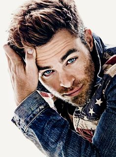 Chris Pine.....look at him, need I say more, beautiful blue eyes, great voice and also known as James T. Perfect Hair!