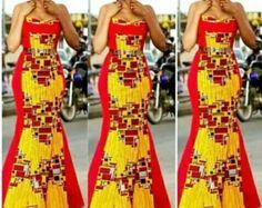 Jaune au large de l'épaule robe en dentelle avec par Zizibespoke