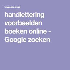 handlettering voorbeelden boeken online - Google zoeken