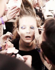 Mary Katrantzou: SS13 Mary Katrantzou, backstage, london fashion week, jamie Baker