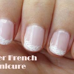 unique french manicure - Google Search