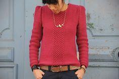 Le  Pull Chéri et son tuto par Lisallu. Tuto gratuit, en français, DIY, tricot. Réalisez un ravissant pull grâce à ce tutoriel.