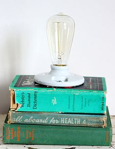 How to: Make a Vintage Book Lamp