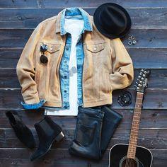 "103.6 mil Me gusta, 472 comentarios - H&M (@hm) en Instagram: ""Channel the tough-yet-sensitive troubadour in this hot-rocki'n look 🎸#HMMan #HM❤️"""