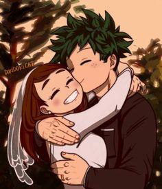 Deku X Uraraka, My Hero Academia Shouto, Hero Academia Characters, Held, Anime Ships, Anime Girls, Anime Couples, Fan Art, Zine