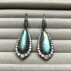 Earring of the day: One of a Kind Labradorite @annoushkajewellery.
