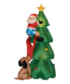 Take a look at this Santa on Tree Inflatable Light-Up Lawn Decoration by BZB Goods on #zulily today!