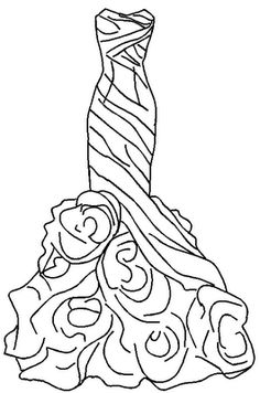 Wedding Dress Coloring Pages Kids embroidery Pinterest