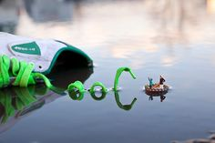"Fantastic Voyage, 2011, by London-based street artist Slinkachu who creates installations in finely-detailed miniature using litter and cut up train set figures less than 4cm tall. ""It is a strange kind of buzz abandoning your creations on the street,"" he says"