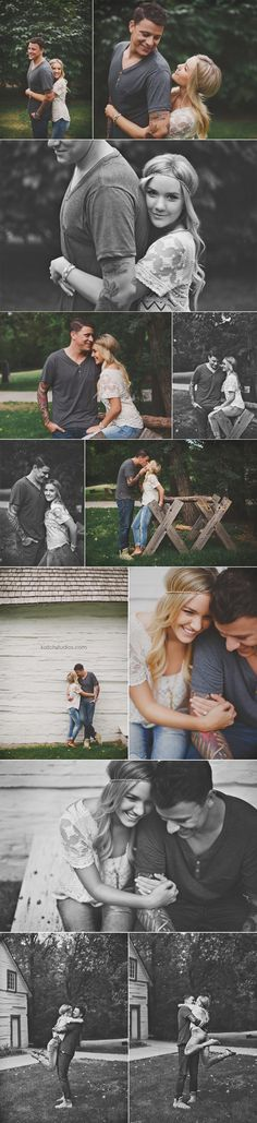 KatchStudios_SawyerDaleE_0004// Love these engagement announcement photos! The couple look so comfortable and natural. Really showcasing their personalities