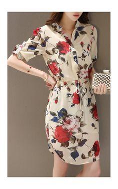 Modest Dresses, Casual Dresses For Women, Clothes For Women, Estilo Kardashian, Plaid Shirt Outfits, Girl Fashion, Fashion Dresses, Sunday Dress, Short Gowns