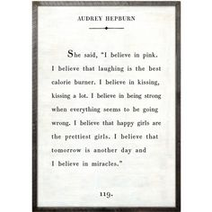 Sugarboo Designs Audrey Hepburn Art Print (8.090 ARS) ❤ liked on Polyvore featuring home, home decor, wall art, phrase, quotes, saying, text, audrey hepburn quote wall art, inspirational wall art and handmade wall art