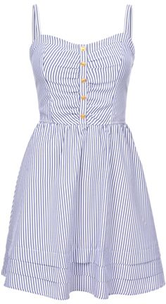 STRIPE FLARE DRESS | Dynamite.ca