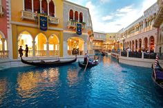Love the gondolas at The Venetian in Las Vegas ... I highly recommend it!!!!