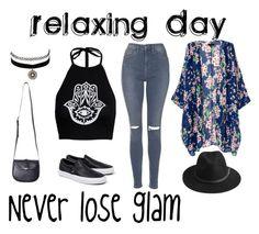 """relaxing day"" by maeca-burusa on Polyvore featuring moda, Charlotte Russe, Boohoo, Topshop, Vans y BeckSöndergaard"