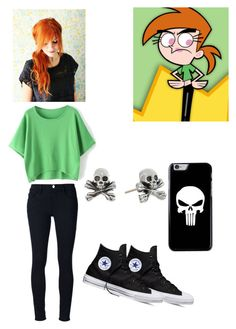 """Fairly Odd Parents:Vicky"" by oreolover13245 ❤ liked on Polyvore featuring Ødd., Frame Denim, Converse and King Baby Studio"