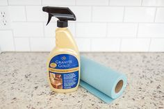 Thoroughly clean your granite counters before sealing.