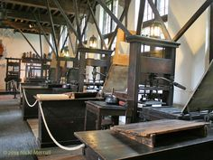 Printing presses at the Museum Plantin-Moretus, Antwerp, Belgium