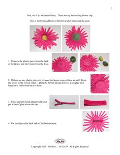 Hair Bow Instruction Book | ... Welcome to No Bow No Go - Home of the Ultimate Hair Bow Instructions