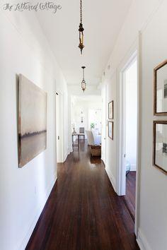 Southern Style House Tour (Part Walnut Floors, Dark Wood Floors, Modern Flooring, Vinyl Flooring, Flooring Sale, Plank Flooring, Best White Paint, Layout, Floor Colors