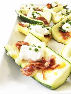 loaded zucchini skins