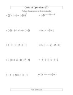 math worksheet : order of operations with fractions worksheet kuta  order of  : Fractions Order Of Operations Worksheet