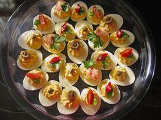 Gefüllte Eier, ein raffiniertes Rezept aus der Kategorie Kalt. Bewertungen: 133. Durchschnitt: Ø 4,6.