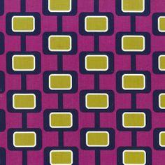 Michael Miller House Designer - Mod Basics - Madison in Jewel Miller House, Tissu Michael Miller, Michael Miller Fabric, Sewing Machine Service, Geometric Box, Mod Girl, Dressmaking Fabric, Textiles, Sewing Material