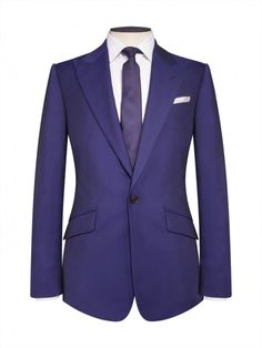 Duchamp Contemporary fit two piece suit Single breasted. One button fastening Peak lapel. Twin vent. Front has slanted pockets Four button cuff Dry clean only 595 2 piece + 150 3 piece + 35 alterations