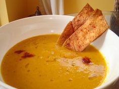 #Vegan & #Vegetarian Butternut Squash Carrot Soup #ButternutSquash #Carrot #Soup from My Husband Is NOT a Vegetarian  #myhusbandisnotavegetarian