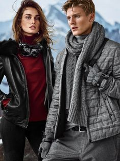 Andreea Diaconu wears sweaters and jackets for Massimo Dutti campaign for 2015
