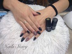 https://m.facebook.com/Nails-Story-1530852697204653/ #blacknails #leopardnails #blackalmondnails #czarnepaxnokcie #migdalki