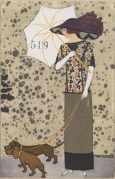 By Mela Koehler (1885-1960), 1911, #FashionIllustration, Published by #WienerWerkstatte #Vienna