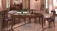 tavolo rettangolare allungabile con 2 allunghe da 50 cm + sedie con fondino www.mobilisaoncella.it