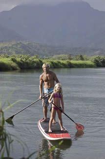 Laird Hamilton, daughter SUP Maui