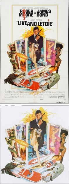 ROBERT McGINNIS - Live and Let Die - 1973 United Artists - poster by fineart.ha.com - print by robertmcginnis.com