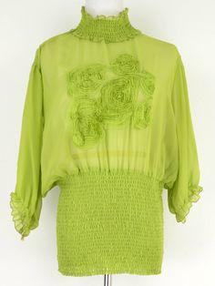 Ashley Stewart Green Short Sleeve Turtleneck Blouse Size 18/20