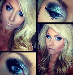 #beeisforbeeauty New Year's Eve glitter eye make up tutorial