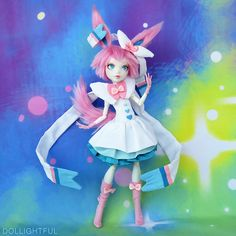 Pokemon Sylveon Custom Monster High OOAK Doll by Dollightful