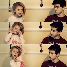 Aww, she is so cute. And he reminds me of an older Carl Grimes...