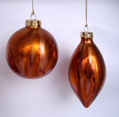 CIJ  Vintage Christmas Ornaments copper rust glass christmas in july. $10.25, via Etsy.
